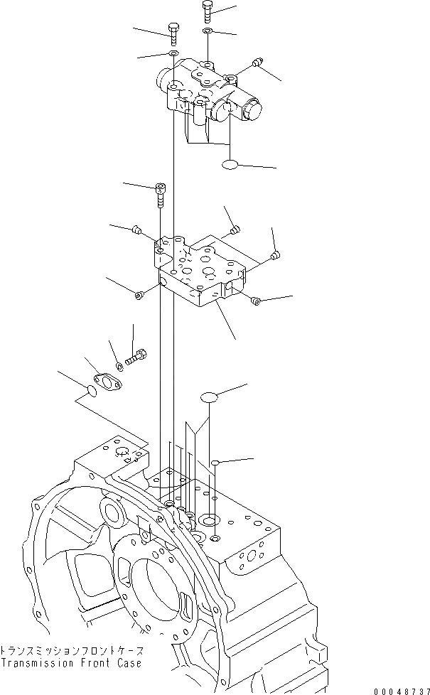 07336-60416 Komatsu ФЛАНЕЦ