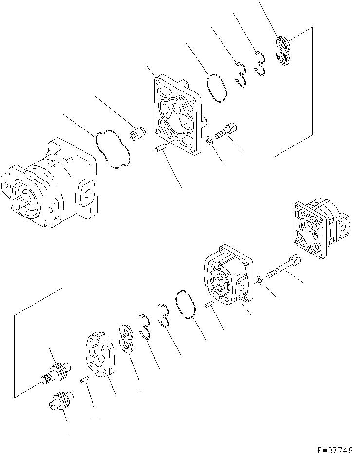 705-56-34360 Komatsu НАСОС В СБОРЕ