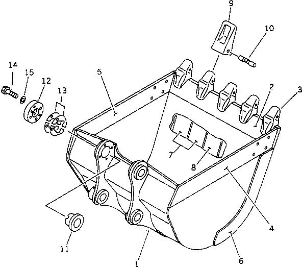 205-70-19570 Komatsu Коронка