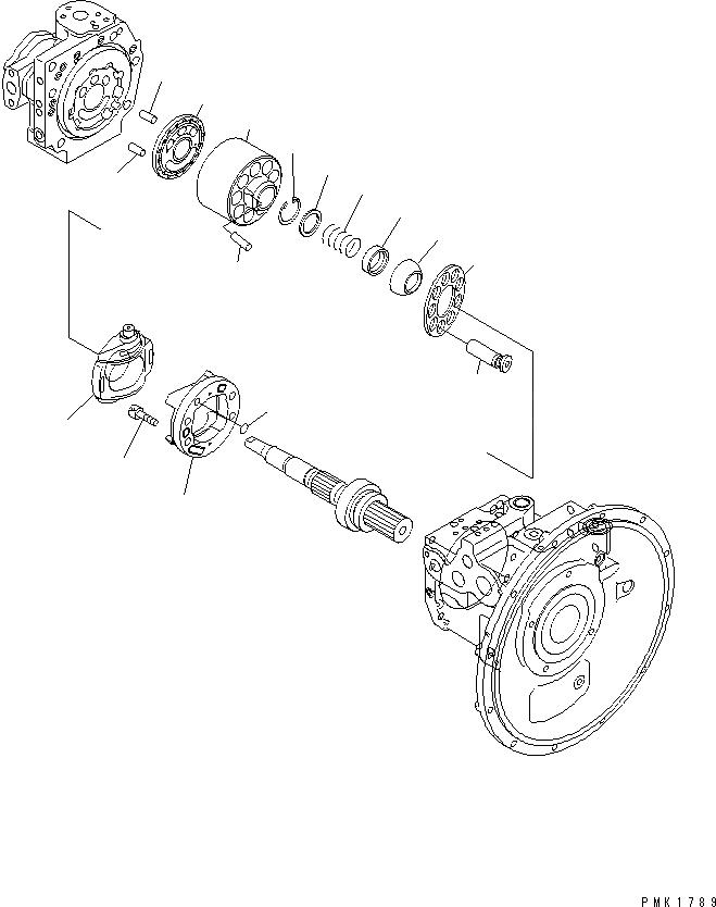 708-1L-00413 Komatsu НАСОС В СБОРЕ