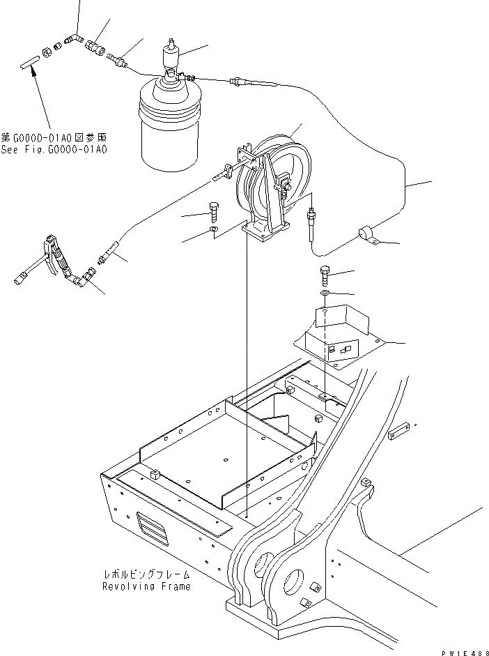 21N-68-37131 Komatsu ШЛАНГ РЕЗИНОВЫЙ АРМИРОВАННЫЙ МЕТАЛЛОМ