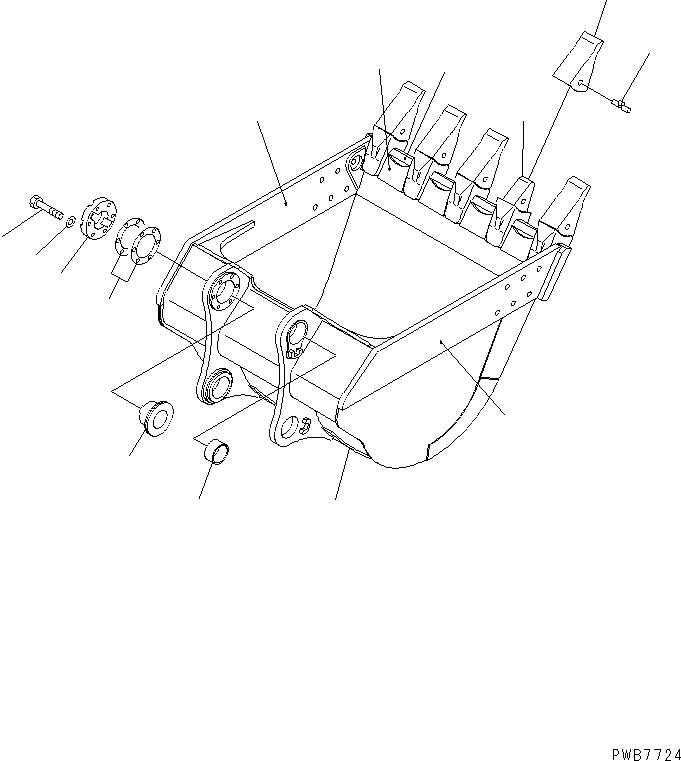 21N-70-14310 Komatsu ЗАЩИТНЫЙ КОЖУХ
