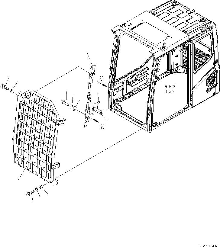 21N-956-1410 Komatsu ЗАЩИТА