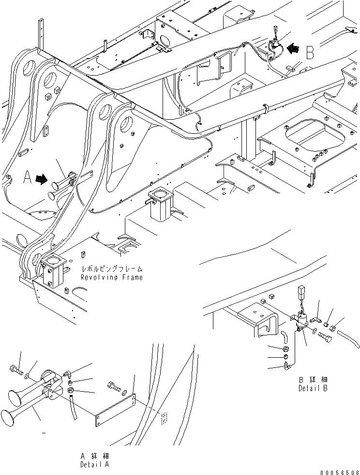 281-34-13901 Komatsu ЗВУКОВОЙ СИГНАЛ