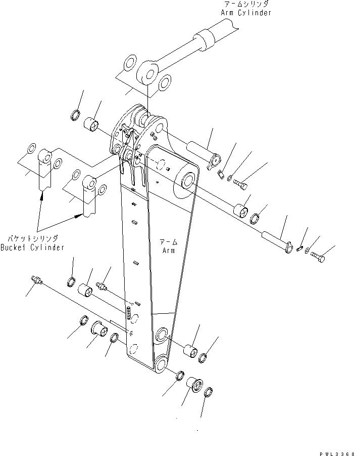 21N-70-32140 Komatsu КРЕПЕЖНАЯ ОСЬ