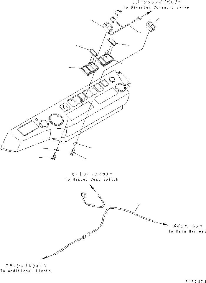 20Y-06-K2520 Komatsu ЭЛЕКТРОПРОВОДКА