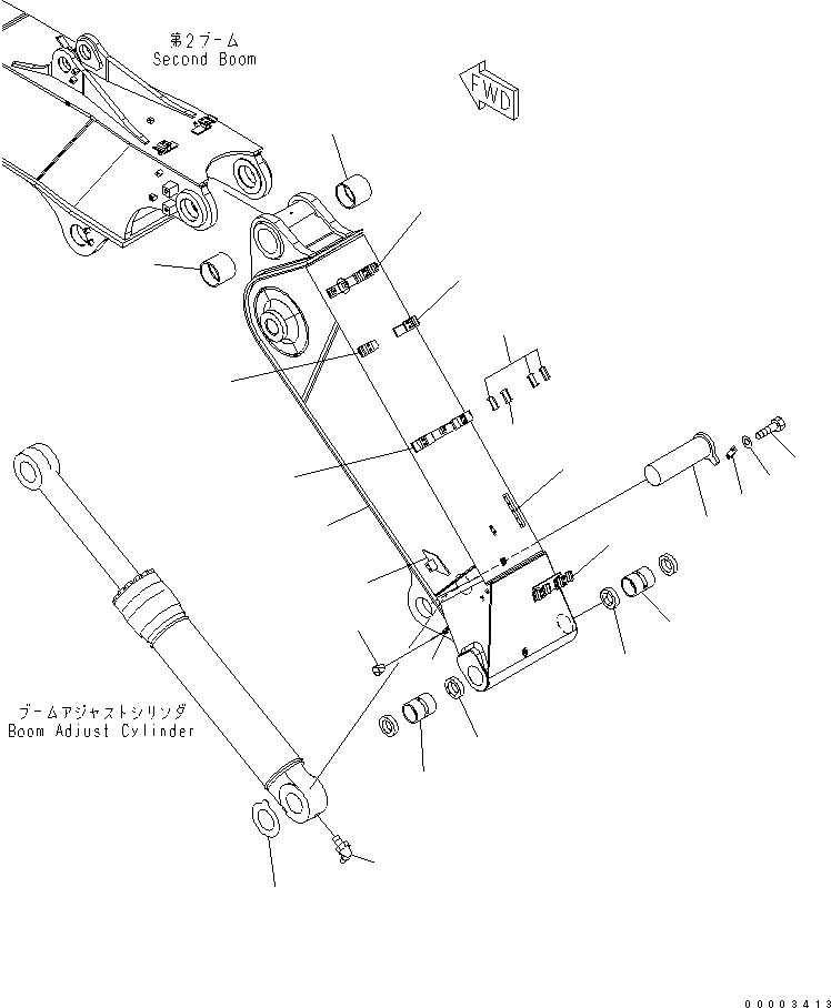 208-70-61191 Komatsu Палец