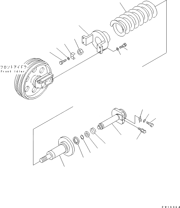 20Y-30-29100 Komatsu ПОДУШКА В СБОРЕ