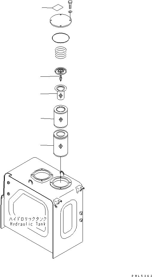 20Y-60-31140 Komatsu Фильтр гидробака