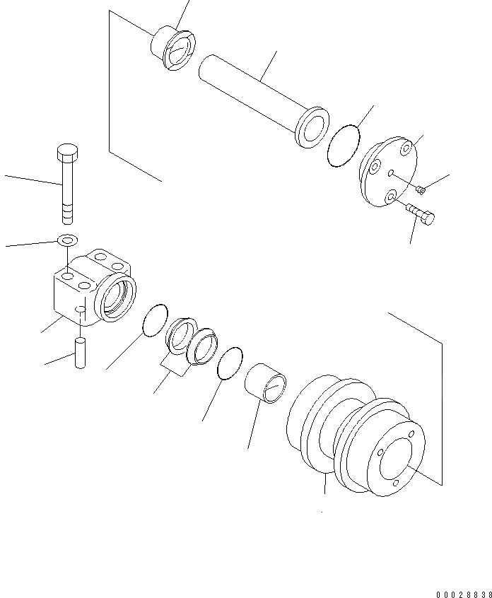 20Y-30-00292 Komatsu ПОДДЕРЖИВАЮЩИЙ КАТОК