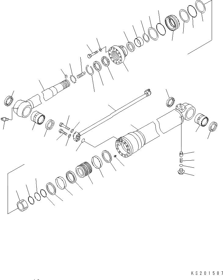 707-98-48610 Komatsu Рем-т г/ц рукояти