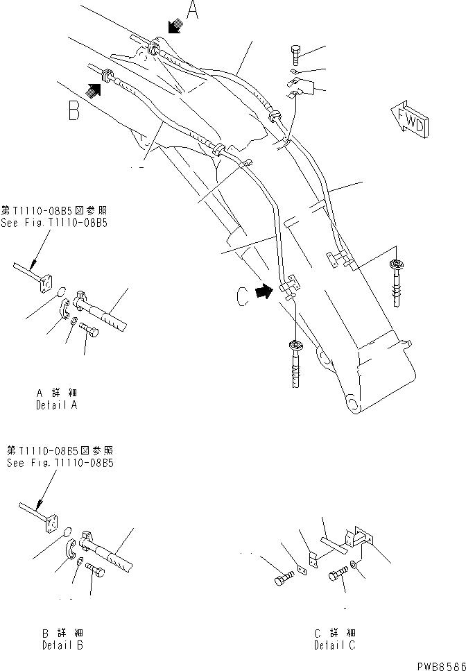 07099-01216 Komatsu ШЛАНГ