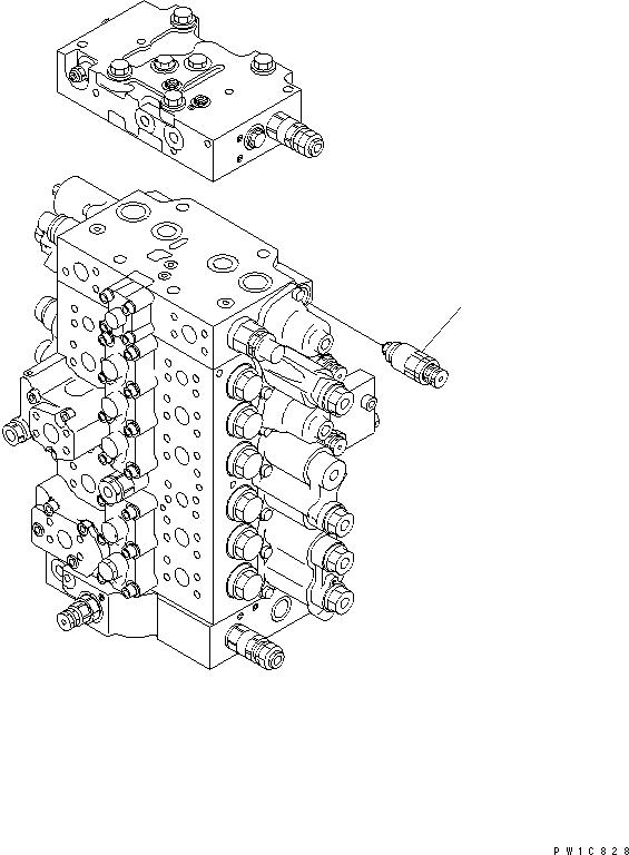 723-90-61100 Komatsu РАЗГРУЗОЧНЫЙ КЛАПАН