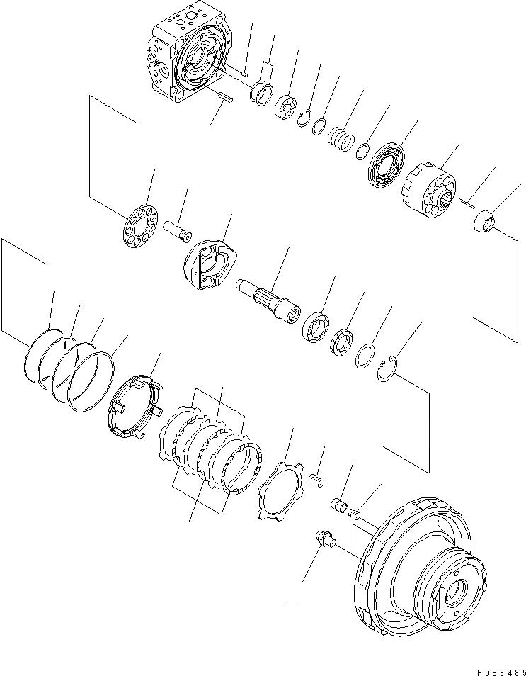 708-8F-00211 Komatsu ГИДРАВЛИЧЕСКИЙ ДВИГАТЕЛЬ