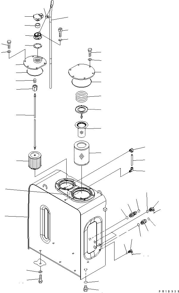 208-60-71180 Komatsu СМЕННЫЙ ЭЛЕМЕНТ ГИДРАВЛИЧЕСКОГО ФИЛЬТРА