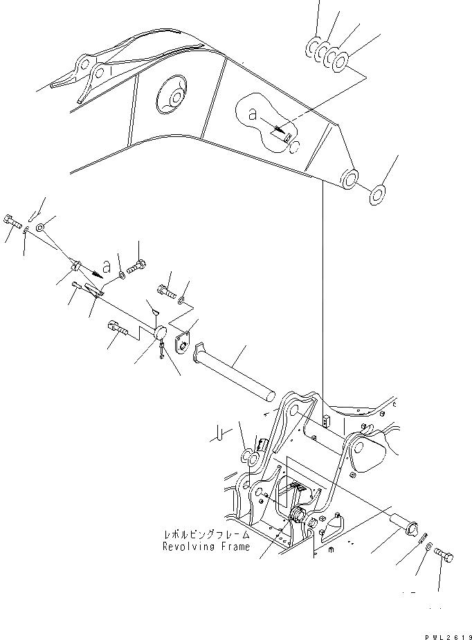 205-70-65750 Komatsu Палец