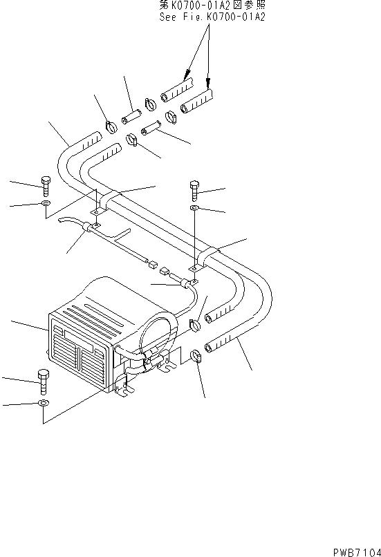205-977-7110 Komatsu РАДИАТОР