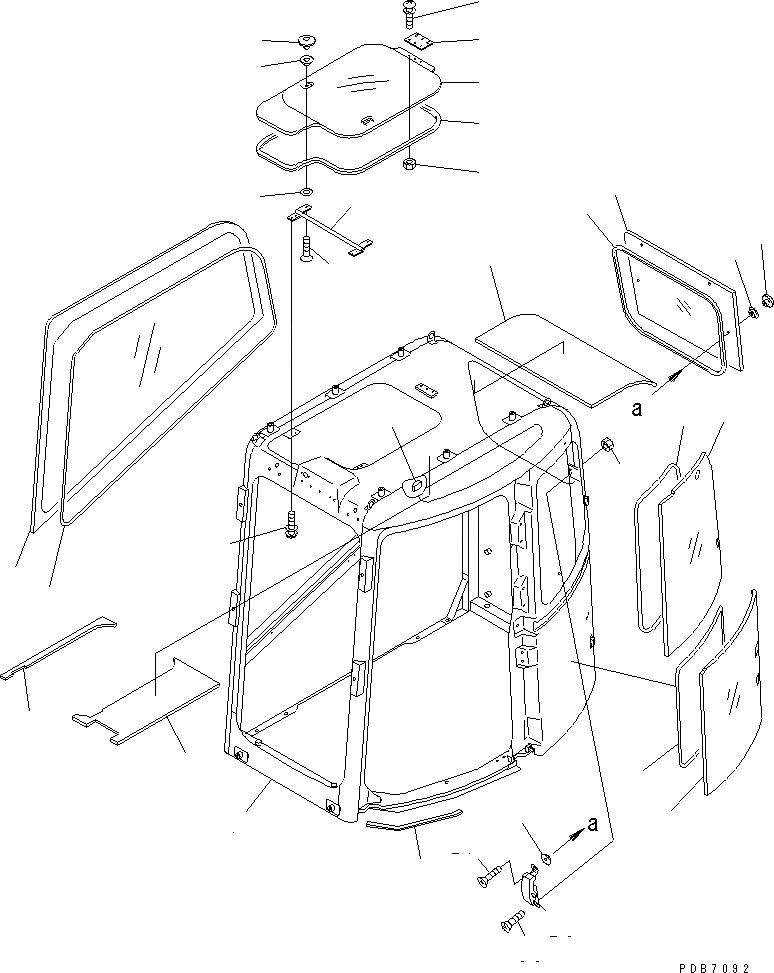 20U-54-24971 Komatsu УПЛОТНЕНИЕ СТЕКЛА КАБИНЫ