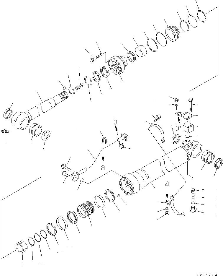 707-99-57160 Komatsu Ремкомплект г/ц рукояти