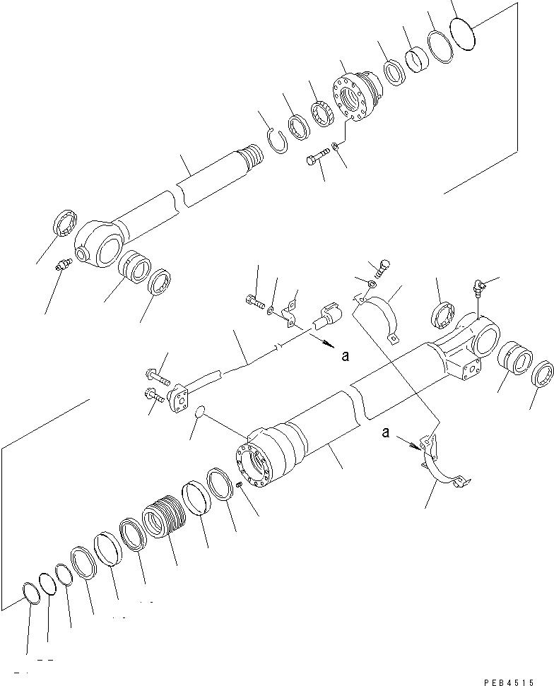 707-98-45250 Komatsu Ремкомплект г/ц ковша