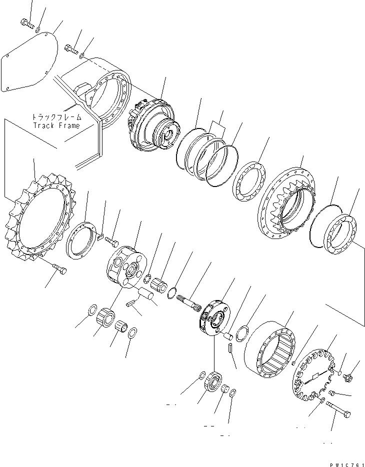 22U-27-21182 Komatsu СТУПИЦА