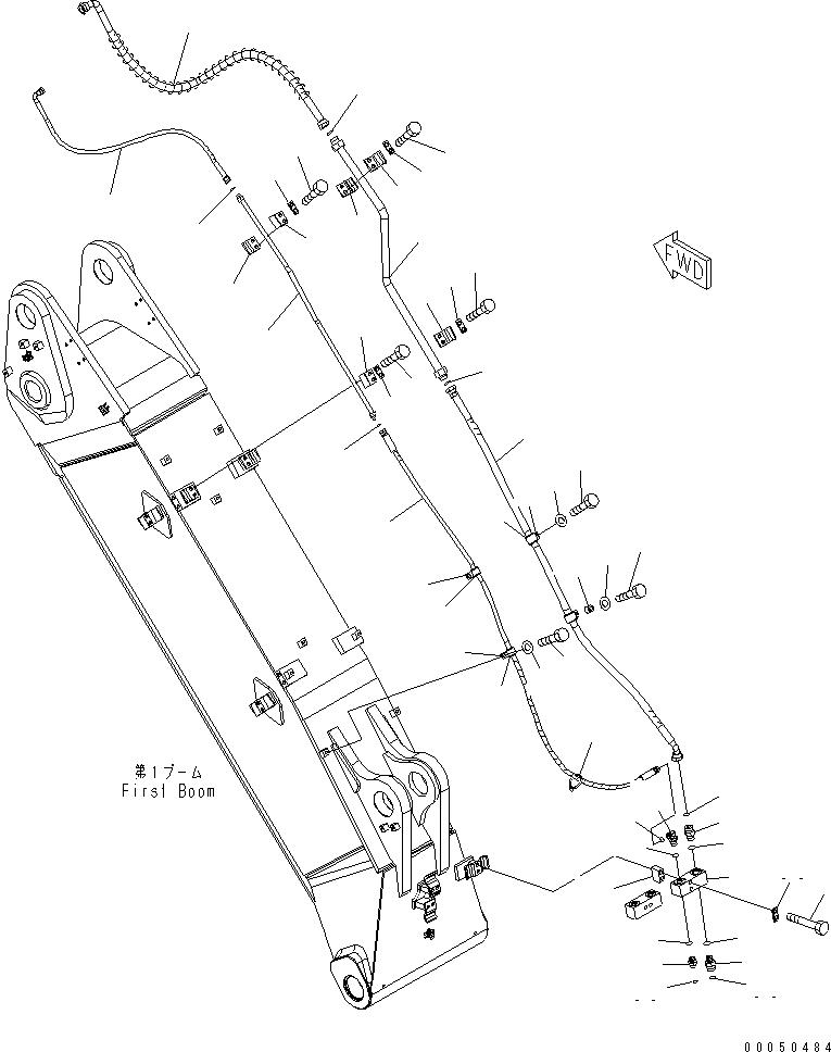 02763-20313 Komatsu ШЛАНГ