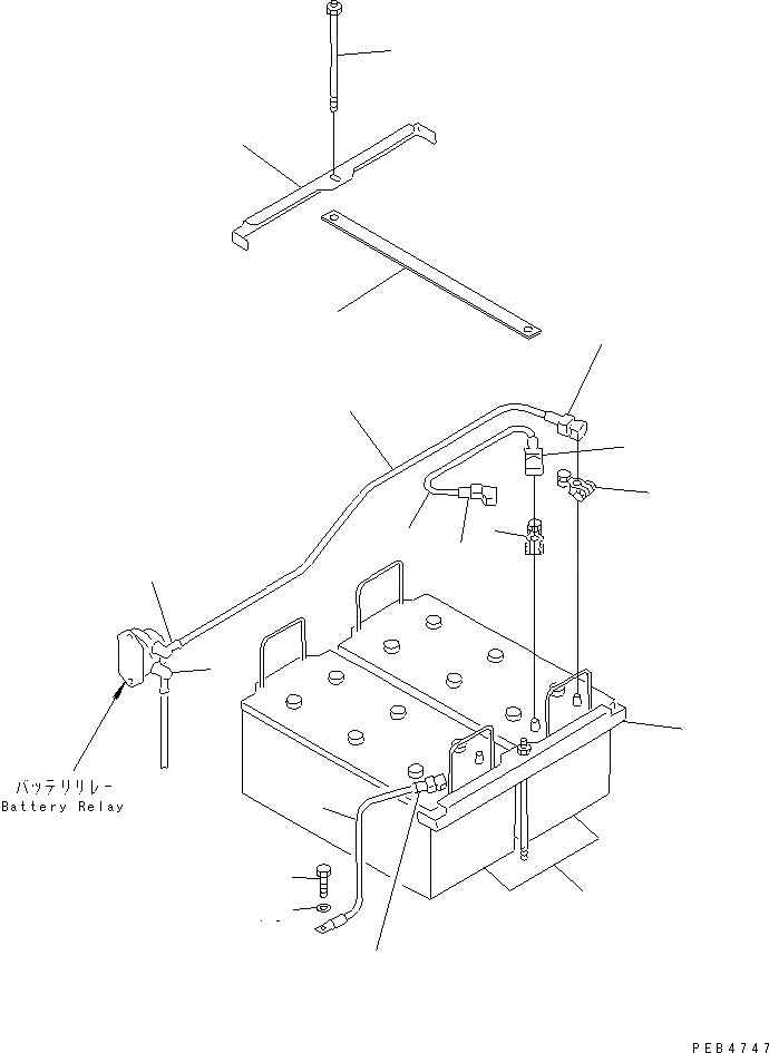 08028-43055 Komatsu ЭЛЕКТРОПРОВОД