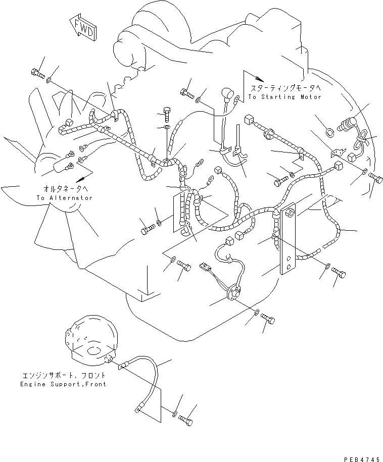 20Y-06-K3240 Komatsu ЭЛЕКТРОПРОВОДКА
