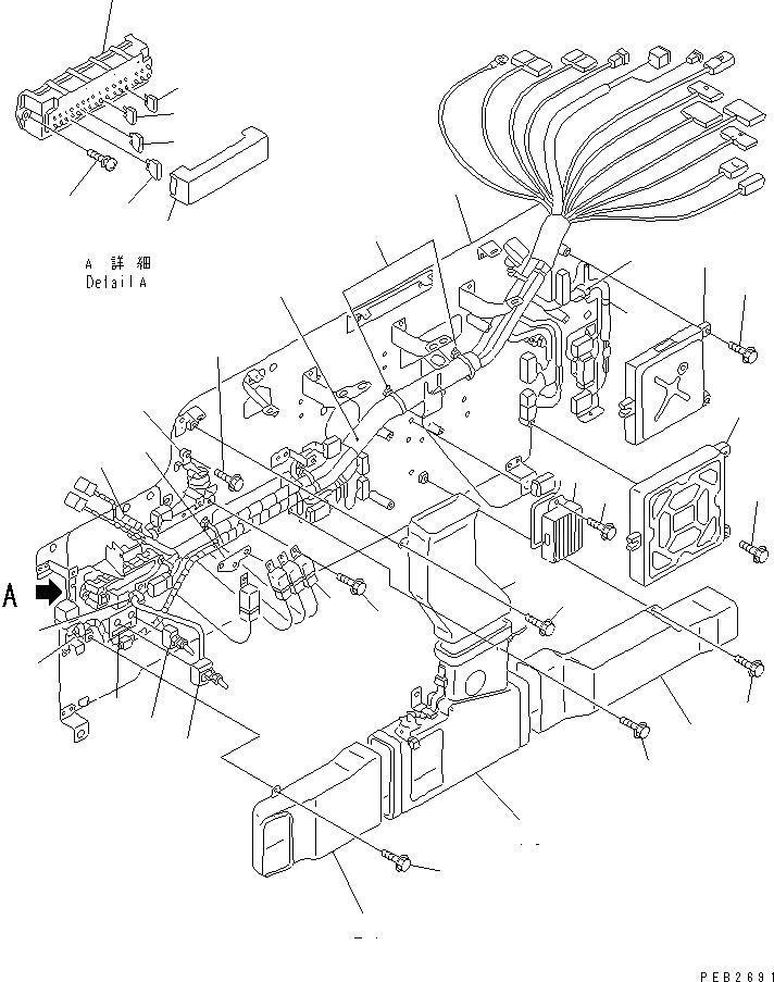 20Y-06-K2291 Komatsu ЭЛЕКТРОПРОВОДКА