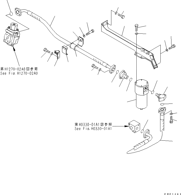 20Y-62-43331 Komatsu КРЕПЕЖНАЯ РАМА