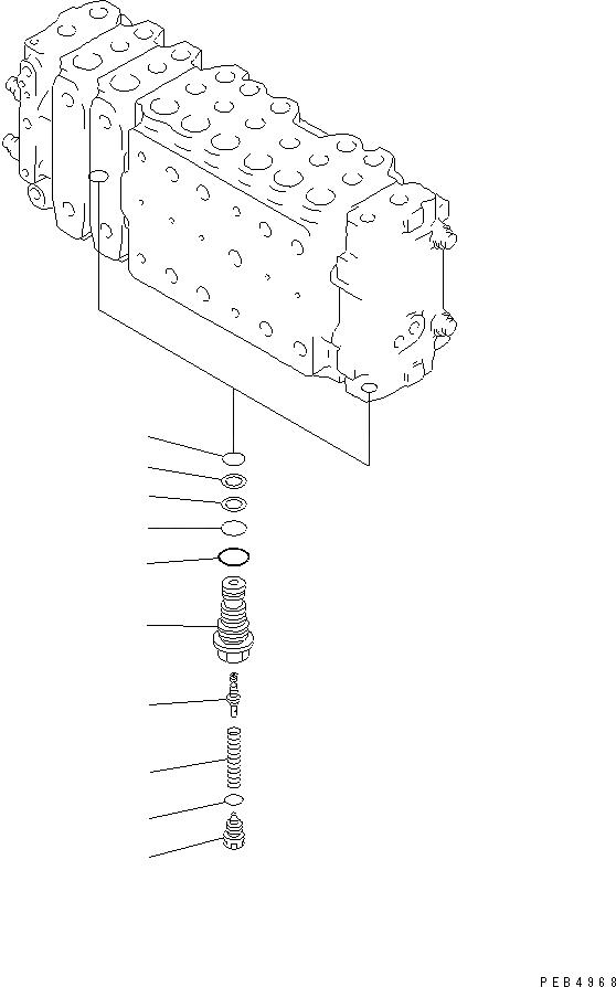 723-40-56600 Komatsu КЛАПАН