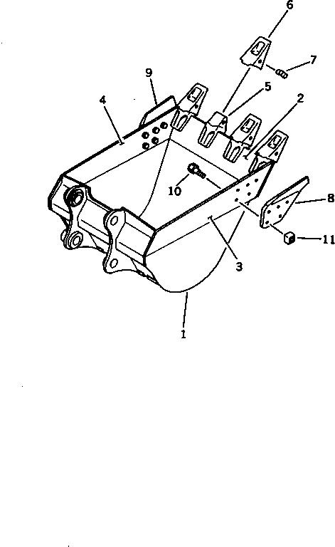 195-32-11210 Komatsu Болт башмачный