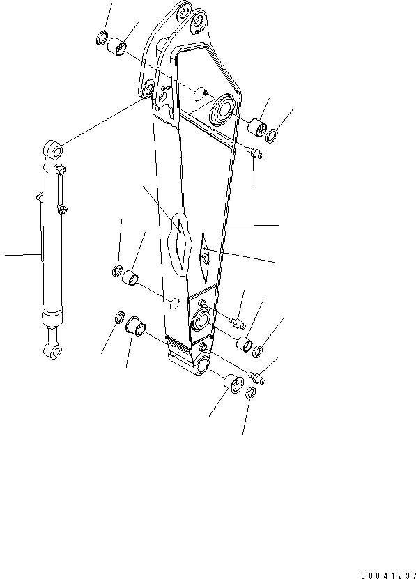 207-70-72460 Komatsu Втулка (207-70-72351+207-70-72360)