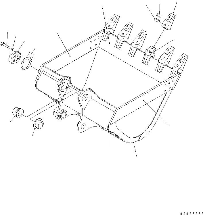 207-70-72470 Komatsu Втулка 207-934-7251