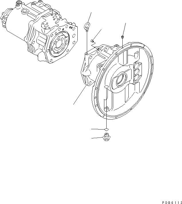 708-2H-00110 Komatsu НАСОС В СБОРЕ