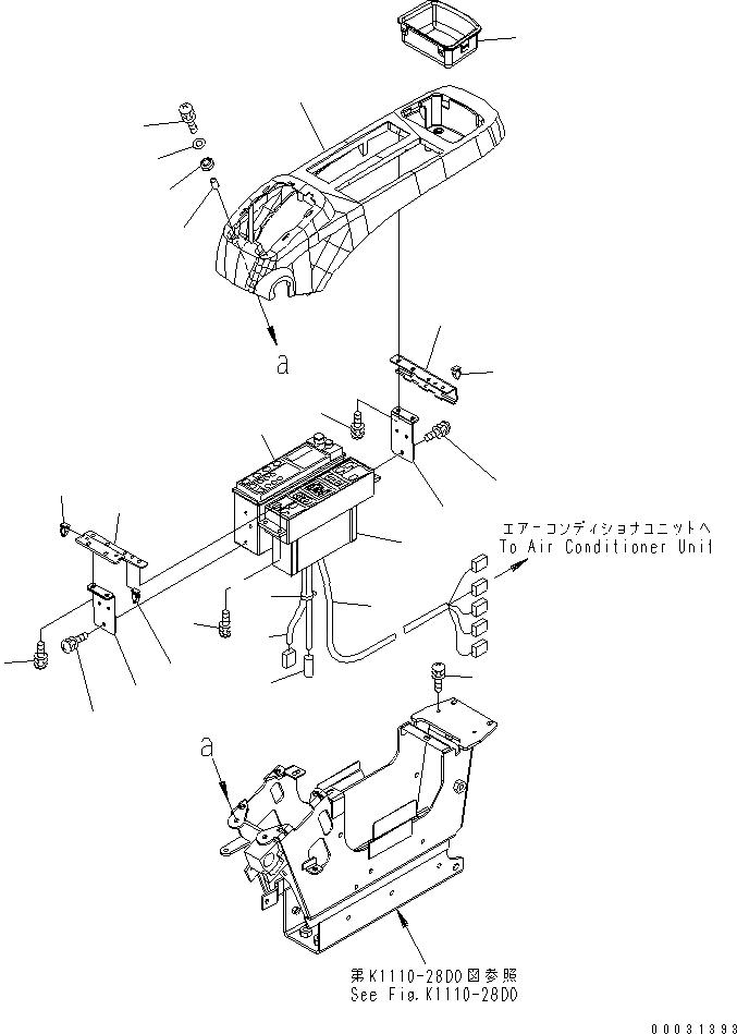 208-979-7630 Komatsu ПАНЕЛЬ УПРАВЛЕНИЯ