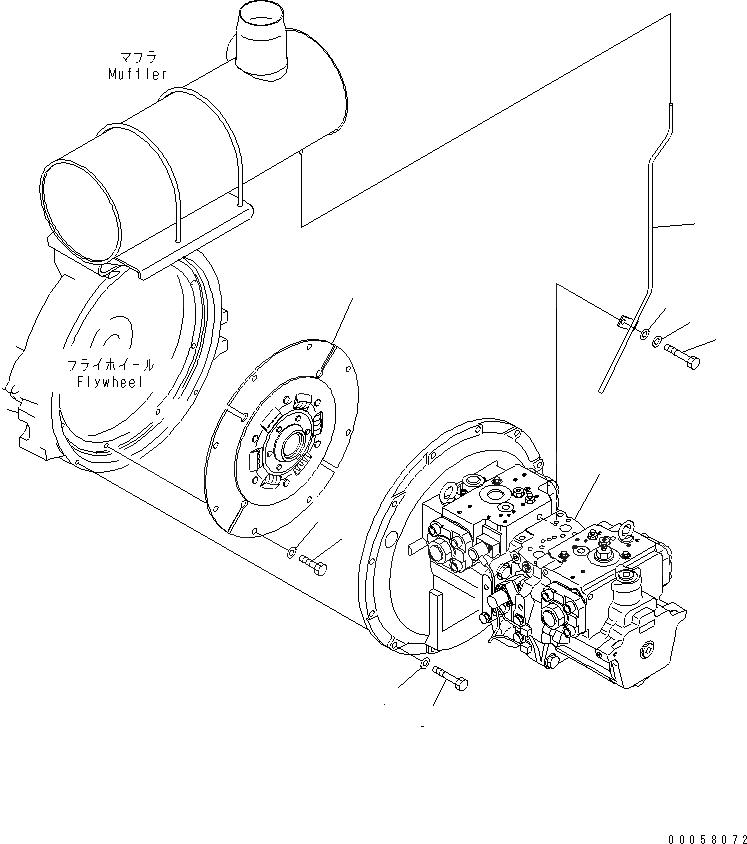708-2G-00700 Komatsu НАСОС В СБОРЕ