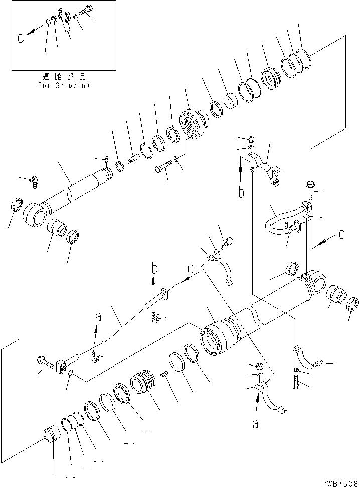 207-63-02542 Komatsu ГИДРАВЛ. ЦИЛИНДР