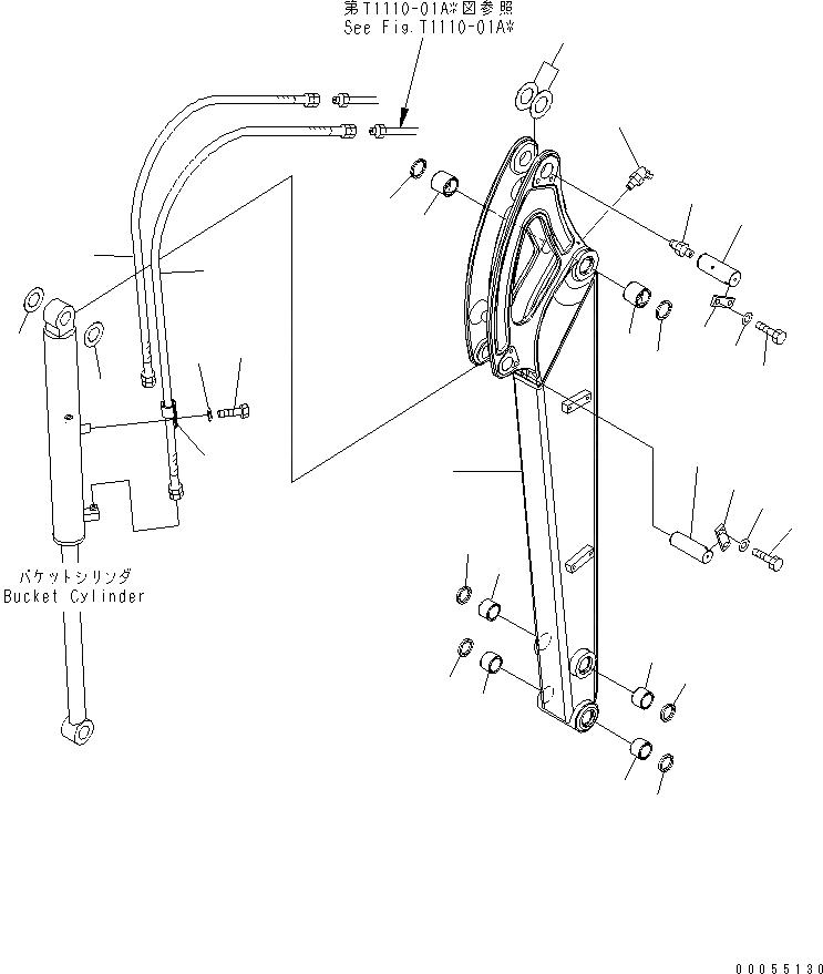 22L-70-21561 Komatsu ШТИФТ