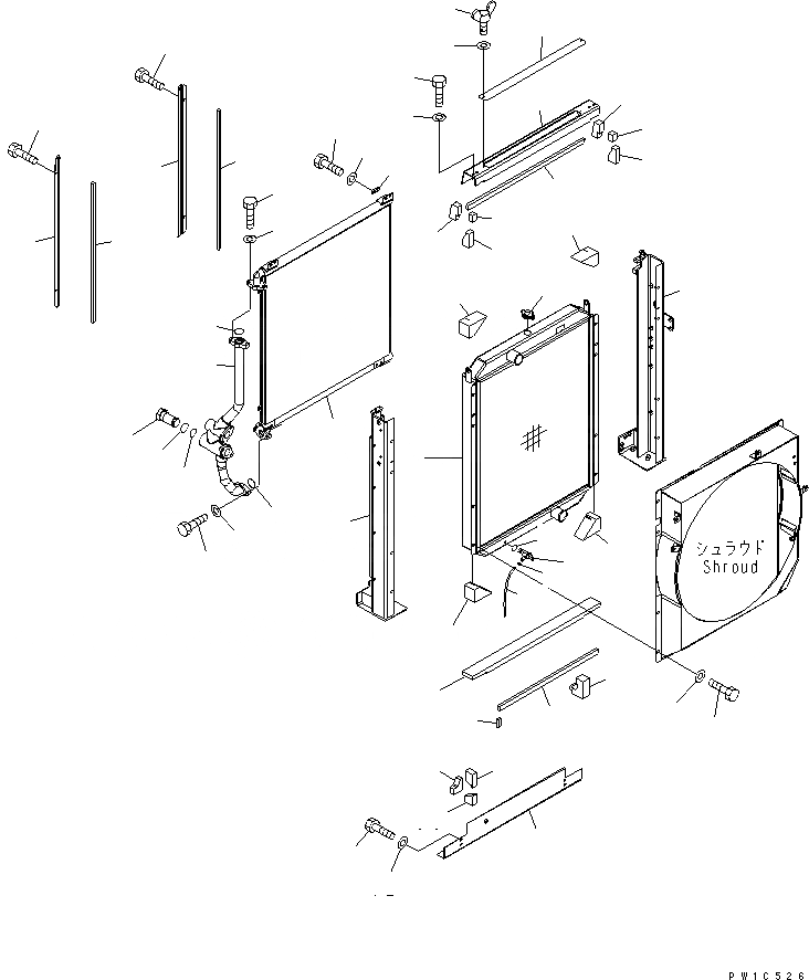 207-03-71110 Komatsu Радиатор
