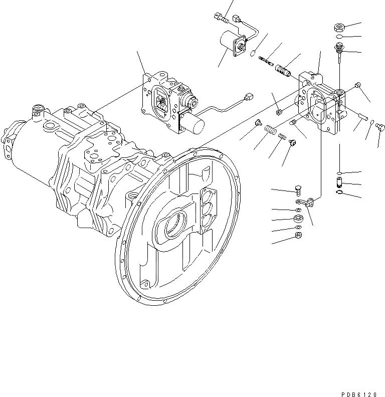 708-2H-00350 Komatsu НАСОС В СБОРЕ