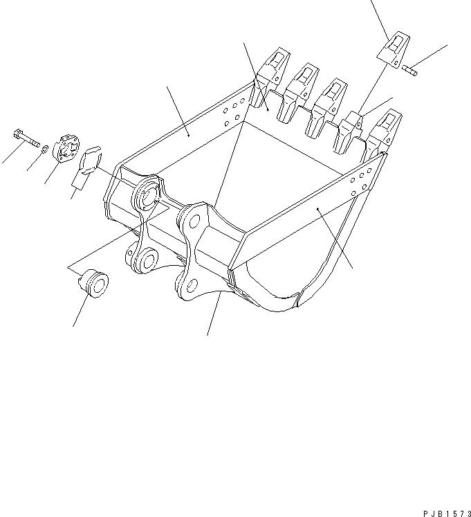 208-70-34230 Komatsu Втулка 208-70-74521