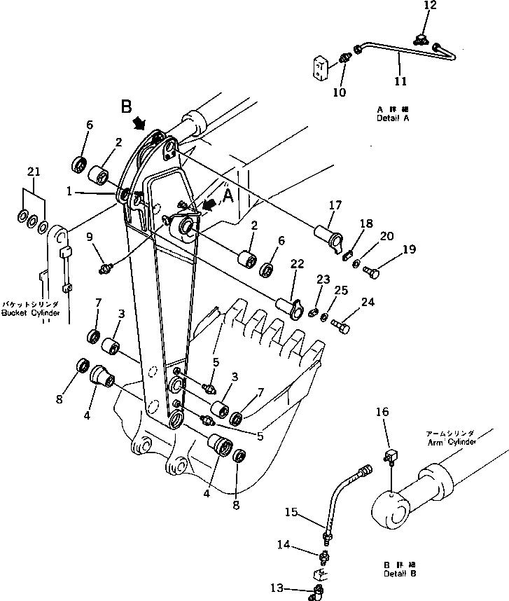 208-70-12231 Komatsu Уплотнение