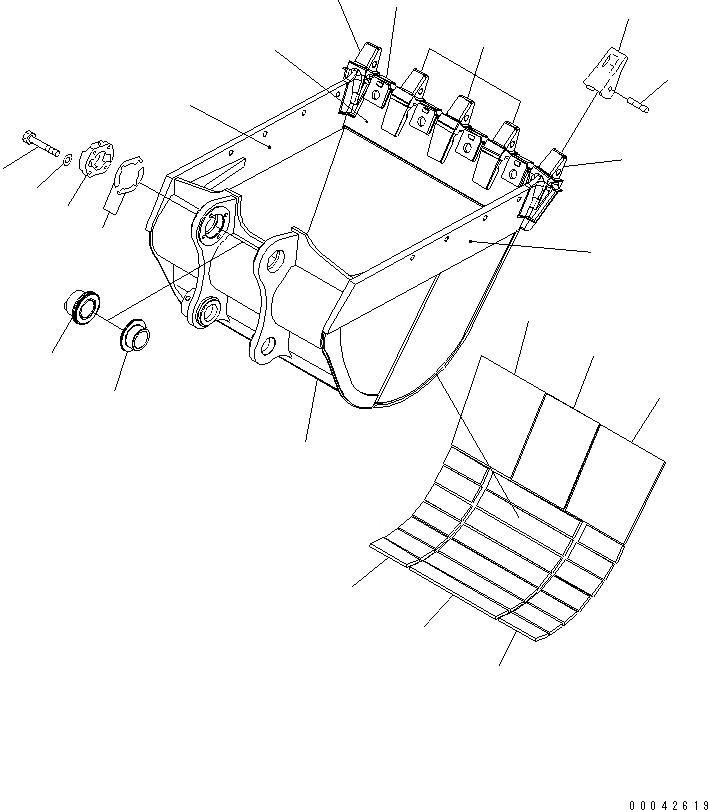 208-70-14152 Komatsu Коронка