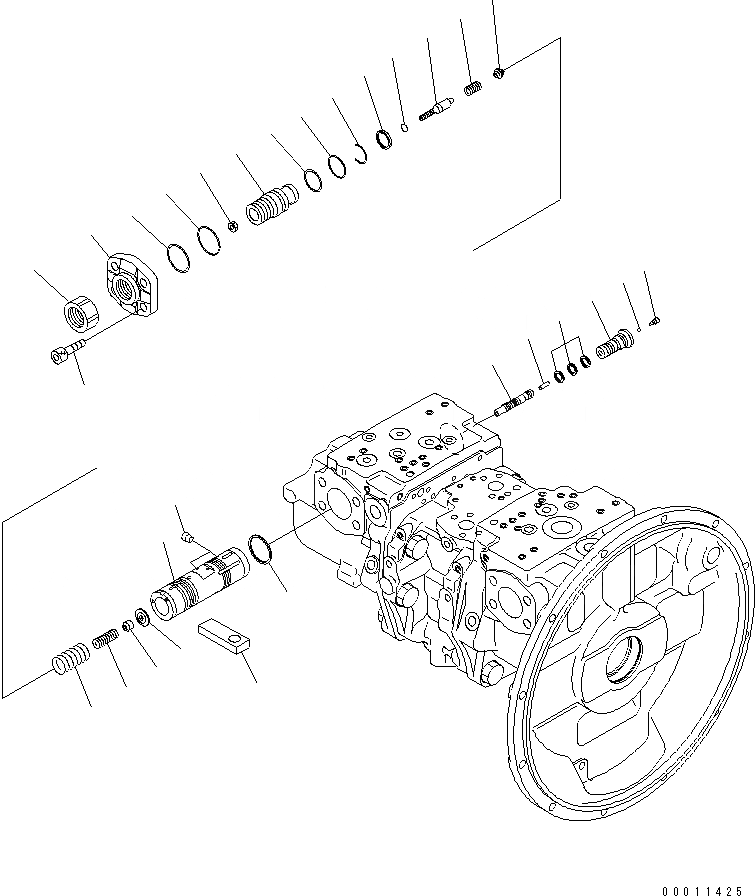 708-2H-00450 Komatsu НАСОС В СБОРЕ