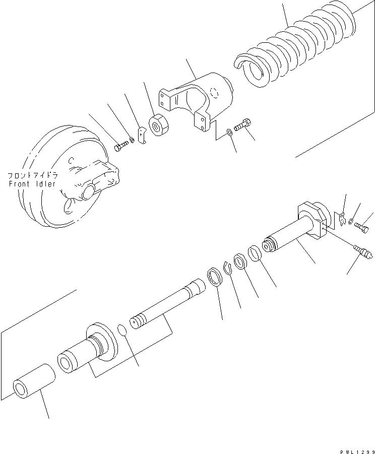 208-30-54141 Komatsu ПРУЖИНА ВИТАЯ