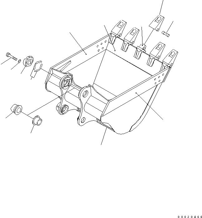 208-70-00081 Komatsu Набор уплотнений