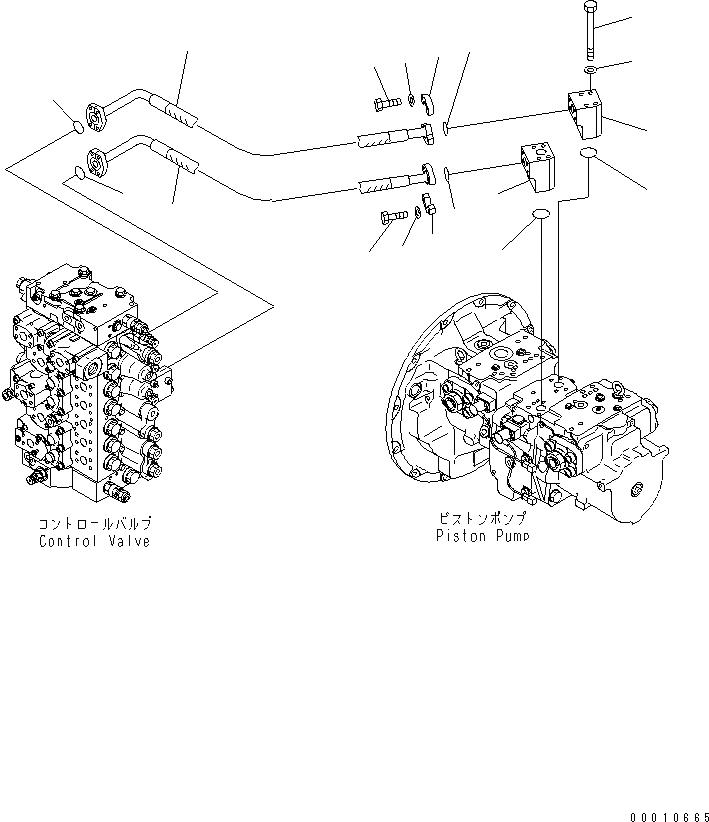 208-62-73470 Komatsu ШЛАНГ