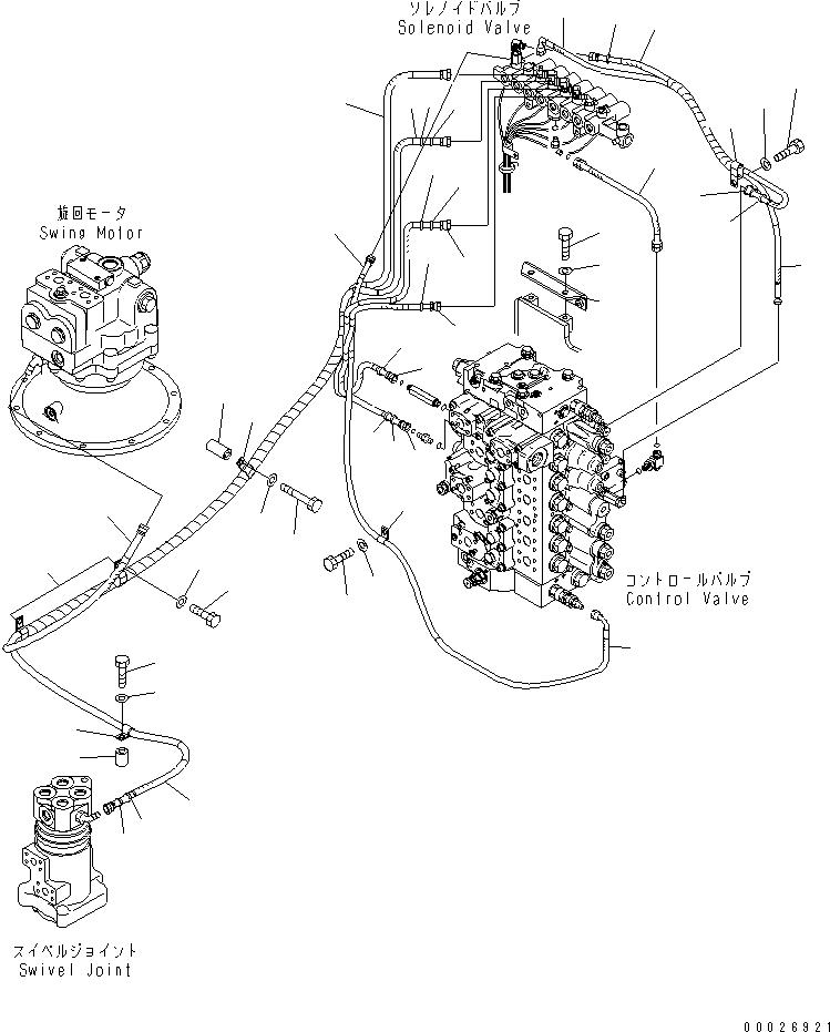 02762-10324 Komatsu ШЛАНГ