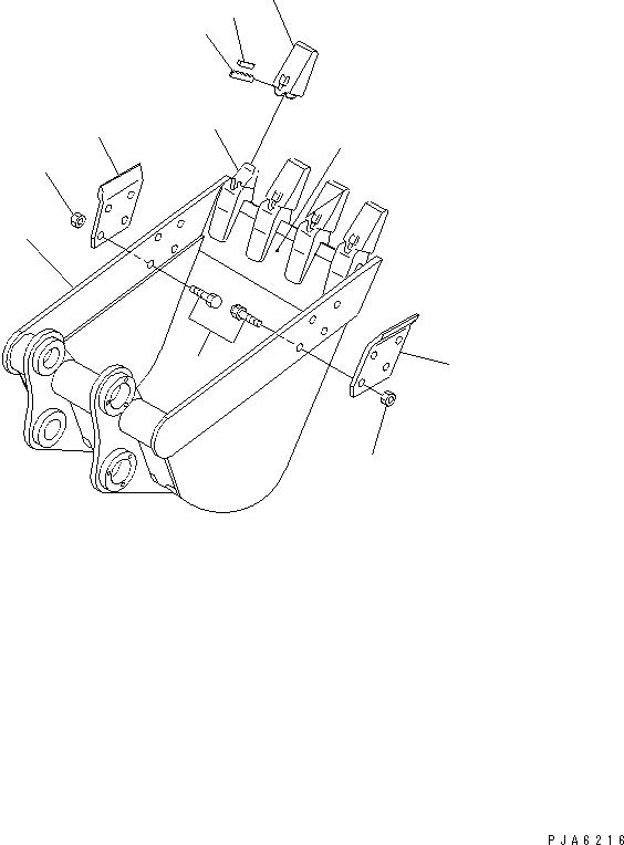 20U-70-13241 Komatsu БОКОРЕЗ